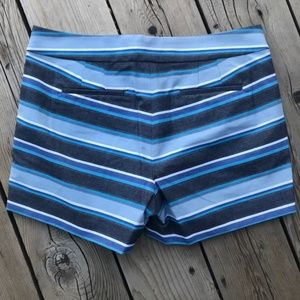 J. Crew Blue Striped Spring Summer Shorts--26/2
